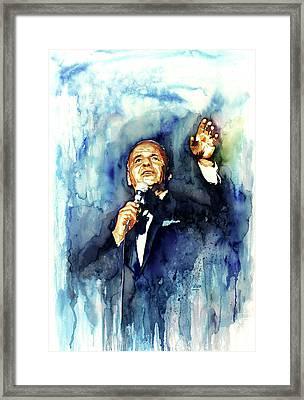Sinatra - Ol' Blue Eyes Framed Print