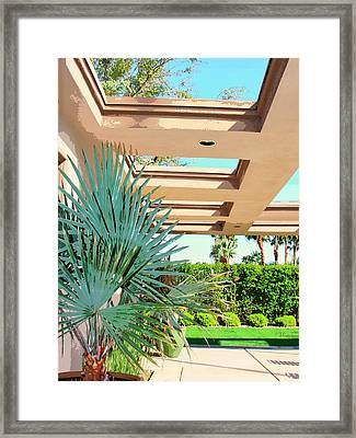Sinatra Patio Palm Springs Framed Print by William Dey