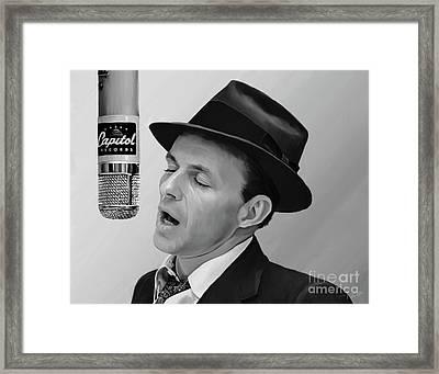 Sinatra Framed Print by Paul Tagliamonte