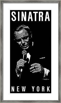 Sinatra W Sig Framed Print