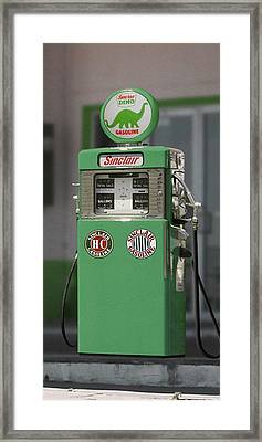 Sinclair Gasoline - Wayne Double Pump Framed Print by Mike McGlothlen