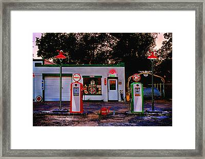Framed Print featuring the photograph Sinclair by Steve Karol