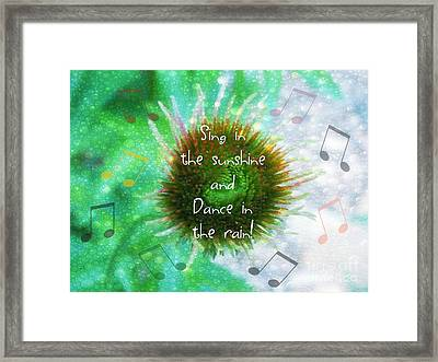 Sing And Dance Framed Print by Anita Faye