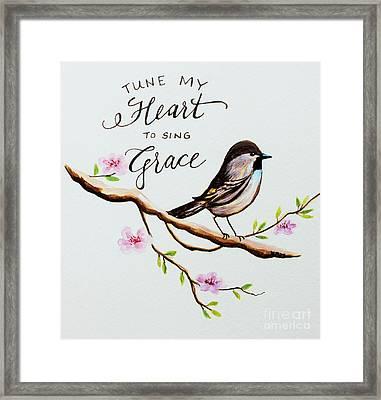 Sing Grace Framed Print