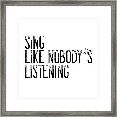 Sing... Framed Print by Melanie Viola