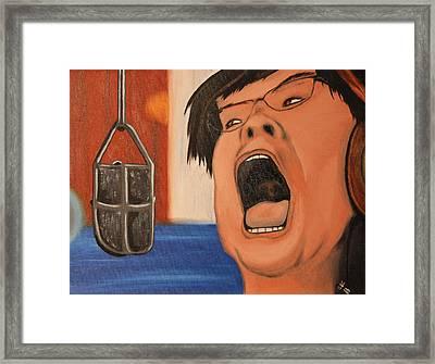 Sing Framed Print by Oscar Cielos
