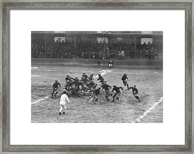 Sing Sing Football Team Framed Print by Underwood Archives