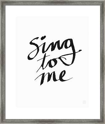 Sing To Me- Art By Linda Woods Framed Print