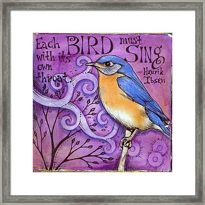 Sing Framed Print by Vickie Hallmark