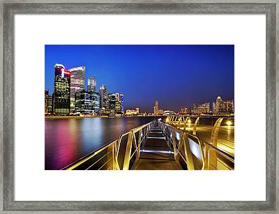Singapore - Marina Bay Framed Print by Ng Hock How