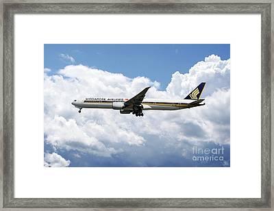 Singapore Airlines Boeing 777 Framed Print by J Biggadike