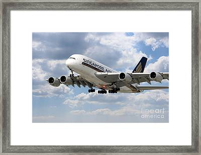 Singapore Airways Airbus A380 Framed Print by J Biggadike