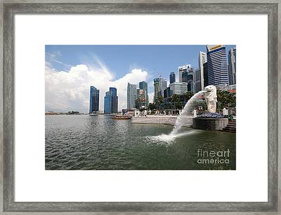 Singapore Framed Print by Charuhas Images