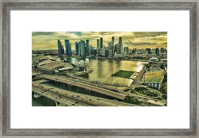Singapore City On The Move Framed Print by Paul W Sharpe Aka Wizard of Wonders