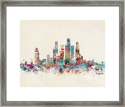 Singapore City Skyline Framed Print by Bri B