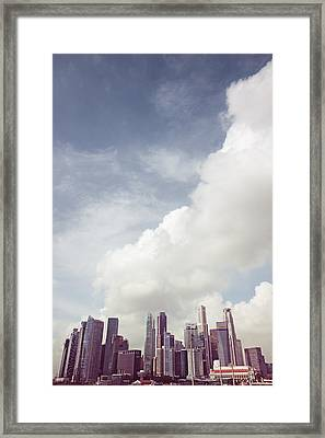 Framed Print featuring the photograph Singapore Cityscape by Joseph Westrupp