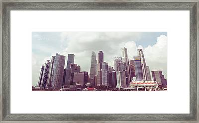 Singapore Cityscape The Second Framed Print by Joseph Westrupp