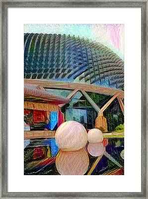 Singapore Durian Framed Print by Roger Smith