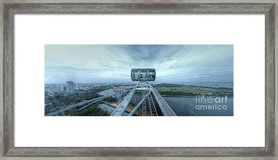 Singapore Flyer Framed Print