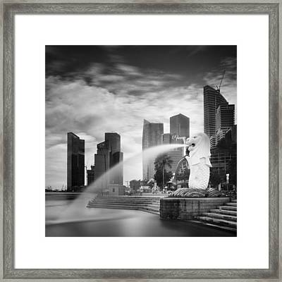 Singapore Harbour Framed Print by Nina Papiorek