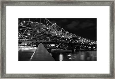 Singapore Helix Bridge Framed Print by Marites Reales