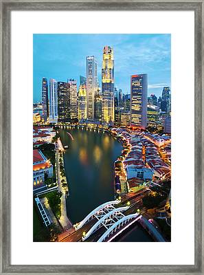 Singapore River Framed Print by Ng Hock How