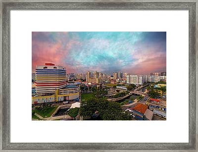 Singapore Rochor Commercial And Residential Mixed Area Framed Print by David Gn