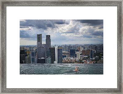 Singapore Swimmer Framed Print by Nina Papiorek