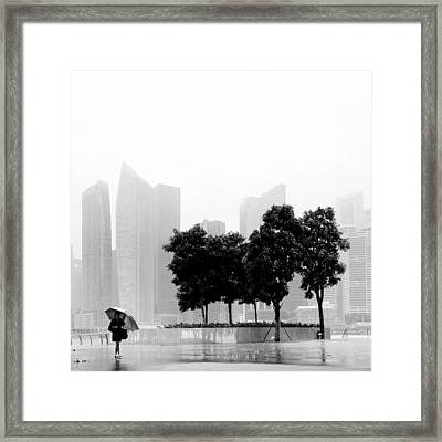 Singapore Umbrella Framed Print by Nina Papiorek