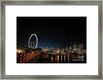 Singapore Waterfront Framed Print by Jaroon Ittiwannapong