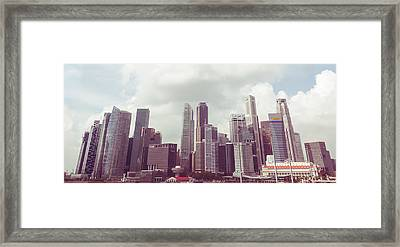 Framed Print featuring the photograph Singaport Cityscape The Second by Joseph Westrupp