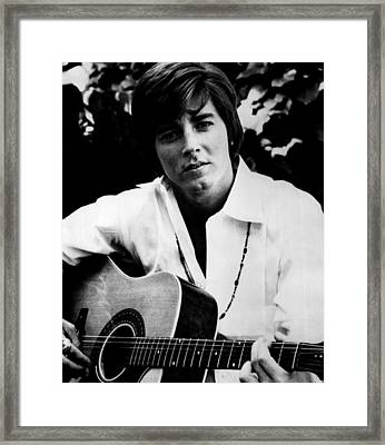 Singer Bobby Sherman 1969 Framed Print by Mountain Dreams