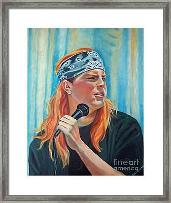 Singer For The Band Framed Print by Gail Zavala