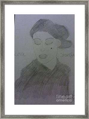 Singer Lisa Stanfield Framed Print