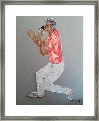 Singer Framed Print