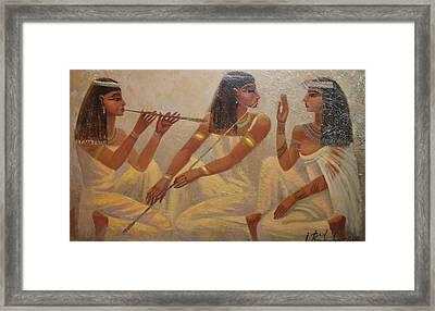 Singers Of Pharaoh Framed Print