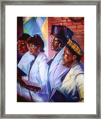 Singin His Praises Framed Print by Tommy  Winn