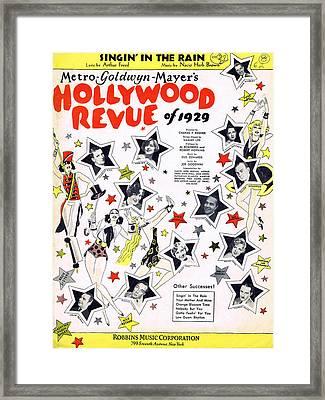 Singin' In The Rain Framed Print by Mel Thompson