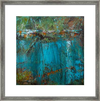 Singin' With Blues Framed Print by Mary Sullivan