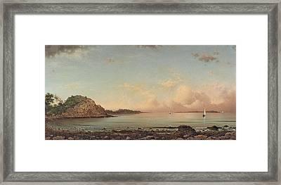 Singing Beach. Manchester Framed Print by Martin Johnson Heade