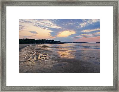 Singing Beach Sandy Beach Manchester By The Sea Ma Sunrise Framed Print