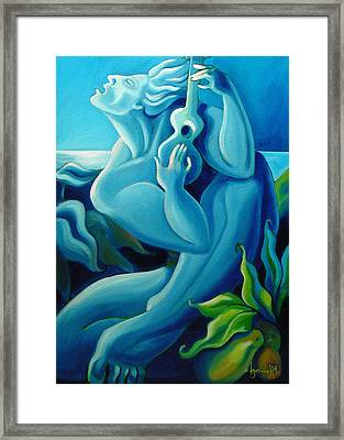 Singing Blue Hawaii Framed Print
