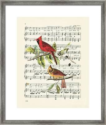 Singing Cardinals Framed Print