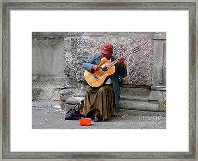 Singing For His Supper Framed Print by Al Bourassa