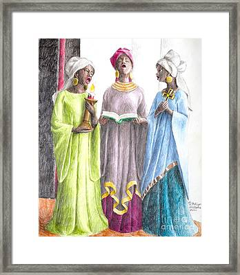 Our Favorite Hymns Framed Print by Fahiym Williams