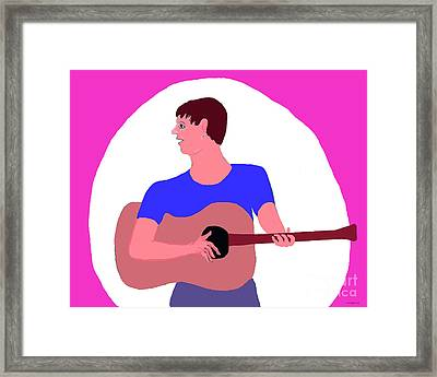 Singing Guitarist Framed Print