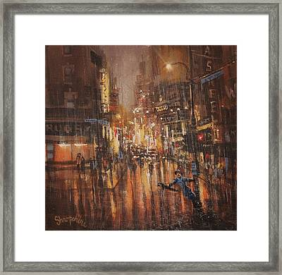 Singing In The Rain Framed Print