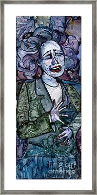 Singing Lady-blues Framed Print