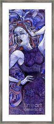 Singing Lady- Jazz Framed Print
