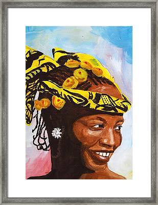 Singing Lady Framed Print